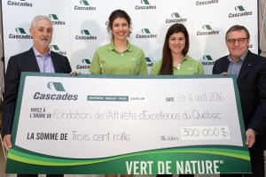 remise cheque geant-CASCADES 2016